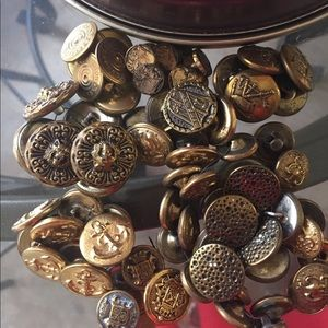 Vintage Assorted All Size Military  Gold Buttons